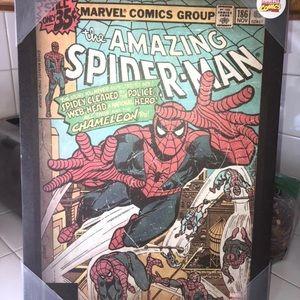 Spiderman canvas poster
